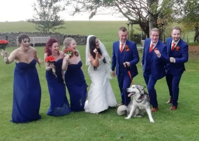 Harley enjoying being part of her parents' big day