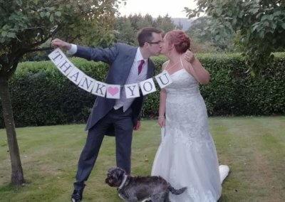 Poppy finishing off her Wedding duties